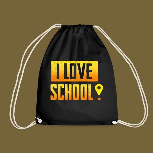 i love school - Turnbeutel