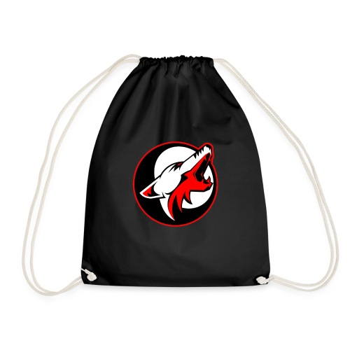 wolf roar - Drawstring Bag
