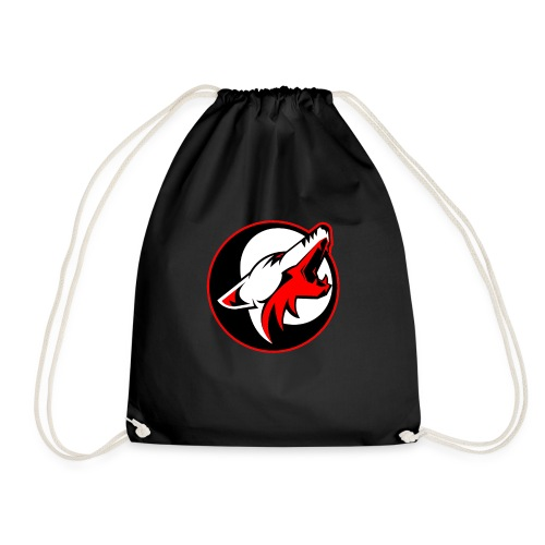 wolf roar - Drawstring Bag