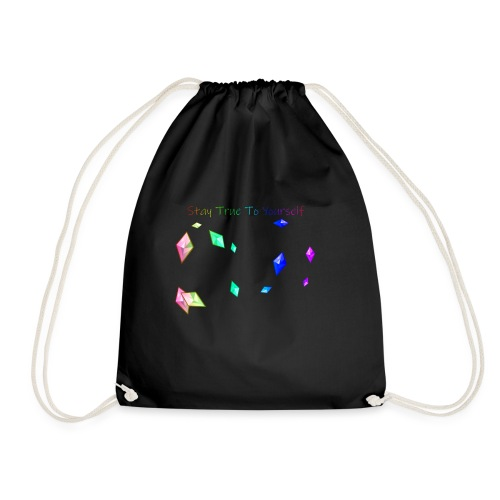 stay true to yourself - Drawstring Bag