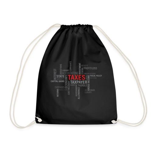 tax text print - Sportstaske