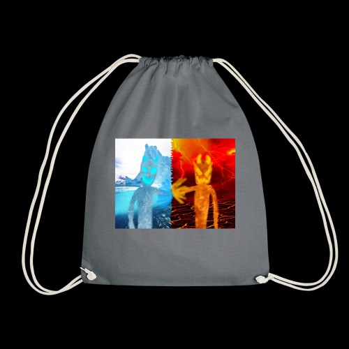 Fire And Ice Battle - Drawstring Bag
