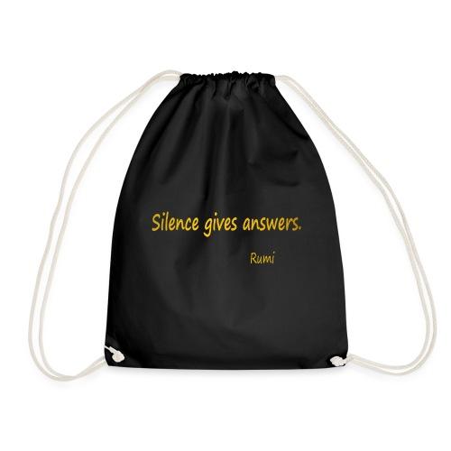 Silence - Drawstring Bag