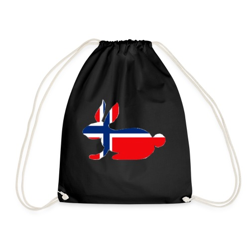norwegian bunny - Drawstring Bag