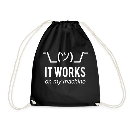 It works on my machine Funny Developer Design - Drawstring Bag