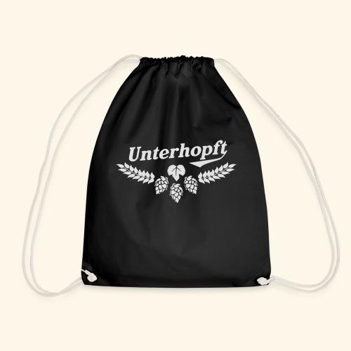 Unterhopft T Shirt - das Original für Biertrinker - Turnbeutel