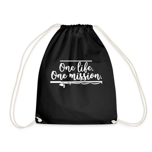 FISHINGSHIRT: One life. One mission. - Turnbeutel