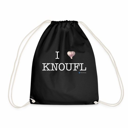 i love knoufl white - Turnbeutel