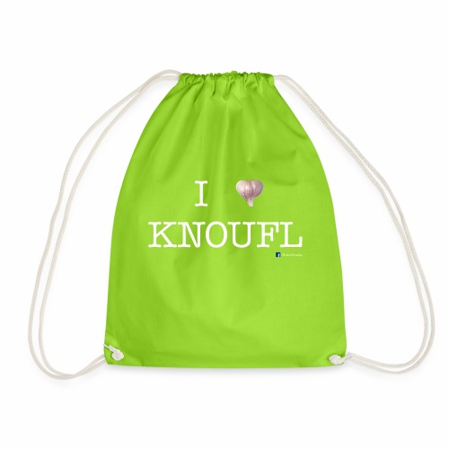 i love knoufl white - Turnbeutel