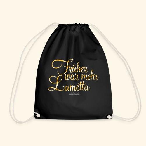 Früher war mehr Lametta Gold   spassprediger - Turnbeutel