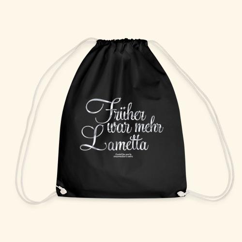 Früher war mehr Lametta Silber | spassprediger - Turnbeutel