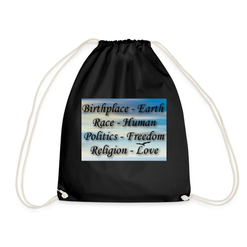I Choose peace - Drawstring Bag