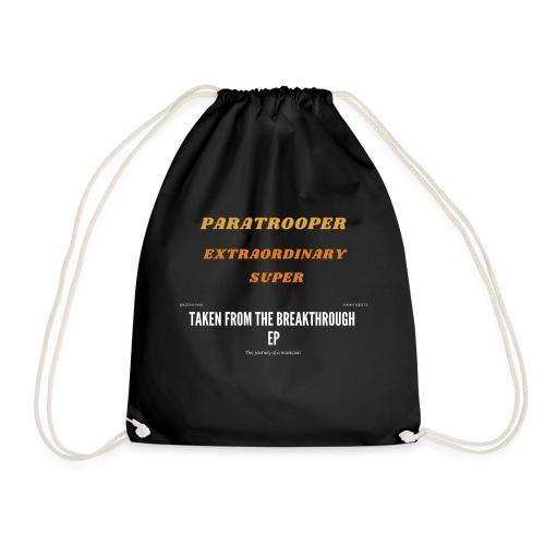 Colorful Retro paratrooper - Drawstring Bag
