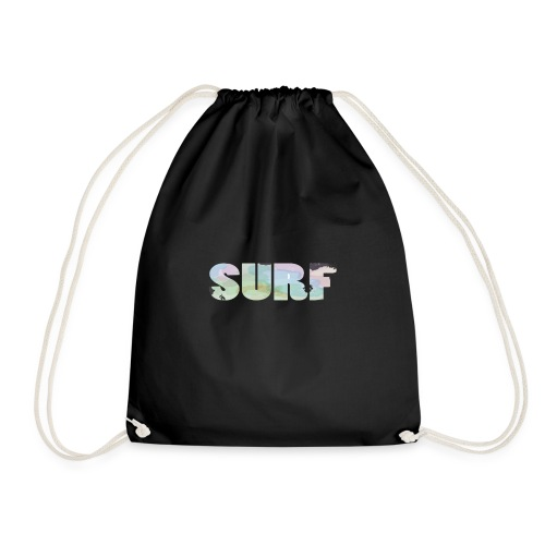 Surf summer beach T-shirt - Drawstring Bag