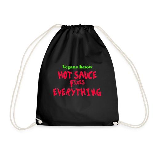hot sauce fixes everything - Drawstring Bag