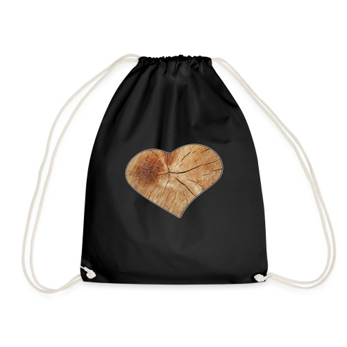Heart_Wood_Isle - Drawstring Bag