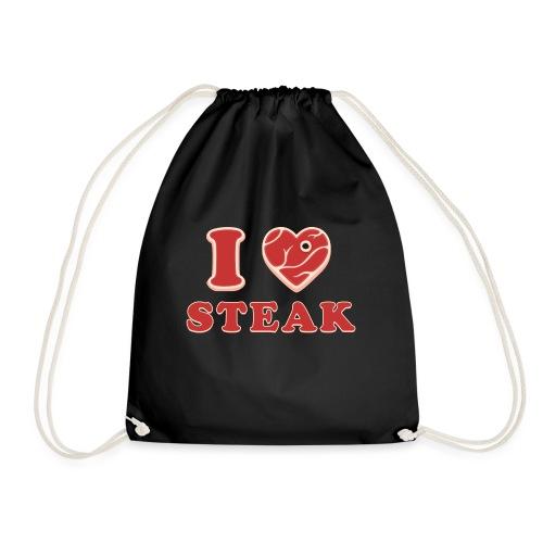 I love steak - Steak in Herzform Grillshirt - Barc - Turnbeutel