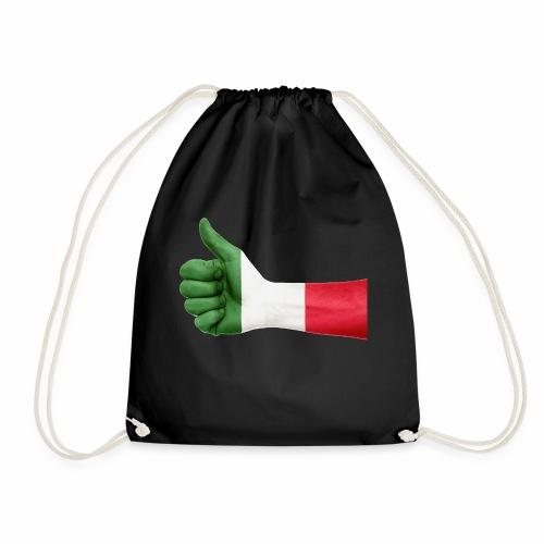 Italienische Flagge auf Daum - Turnbeutel