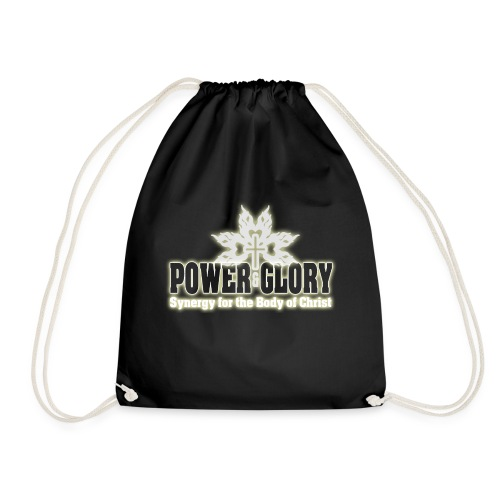 Power and Glory Logo glow - Drawstring Bag