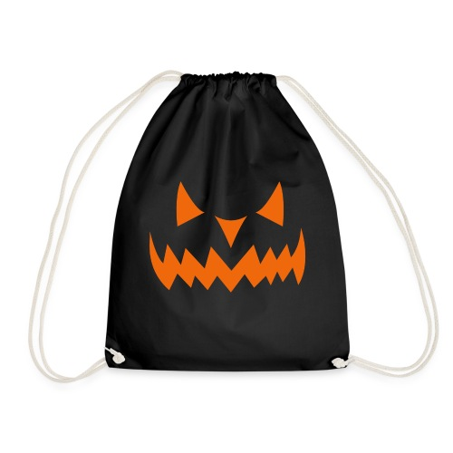 Halloween Pumpkin Smiley Face Face - Drawstring Bag