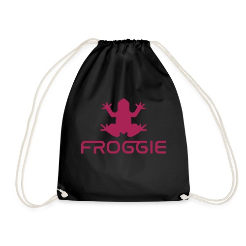Froggie's Offical Merch - Megenta - Drawstring Bag