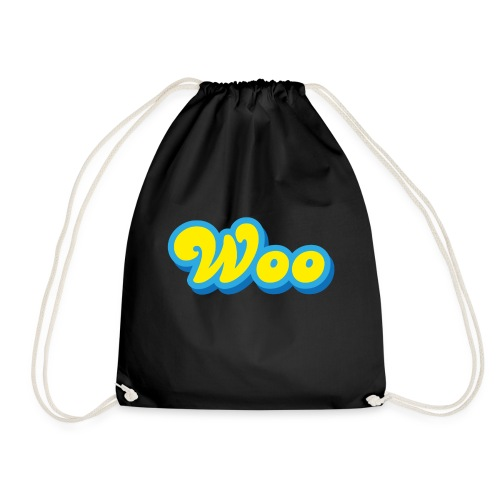 Woo in Yellow and Blue - Drawstring Bag