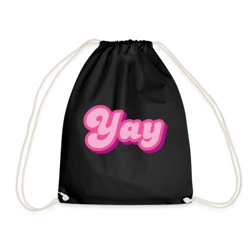 YAY in Pink - Drawstring Bag