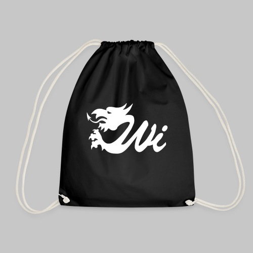Wales Interactive Logo Dragon White - Drawstring Bag