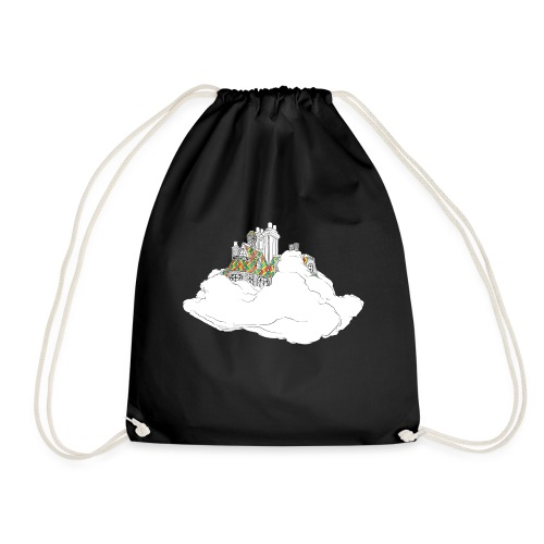 cloud house - Drawstring Bag