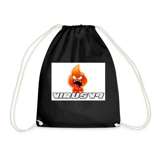 Virusv9 Weiss - Turnbeutel