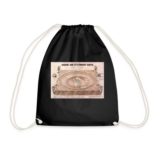 Earth in a square - Drawstring Bag