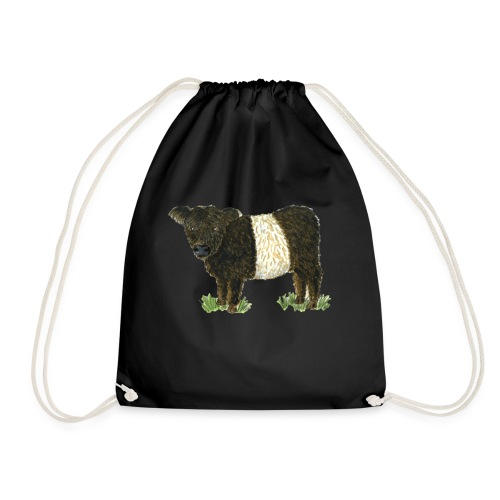 Beltie Belted Galloway Cow - Drawstring Bag