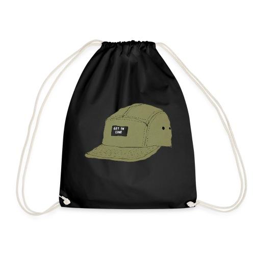 5 panel Get in line hoodie - Drawstring Bag