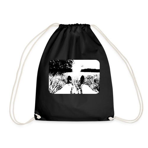 Green Grass in Black and White - Mochila saco