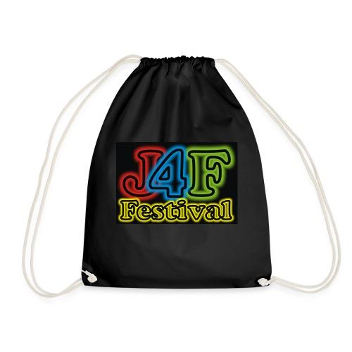 Just4Fun Festival Logo Schwarz - Turnbeutel