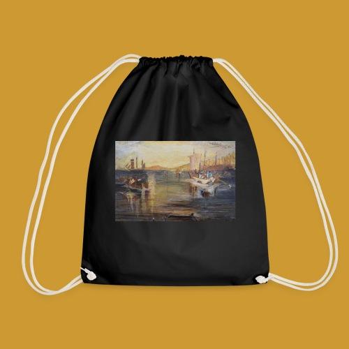 White Fishing - Mark Noble Art - Drawstring Bag