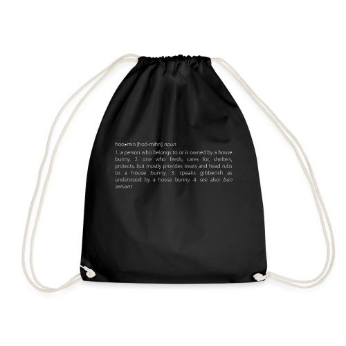 Men's v-neck t-shirt house bunny / rabbit lovers - Drawstring Bag