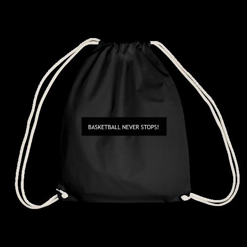 Basketball Never Stops (Schwarz) - Turnbeutel