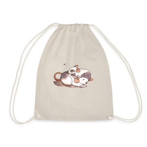 Mice cuddling - Drawstring Bag