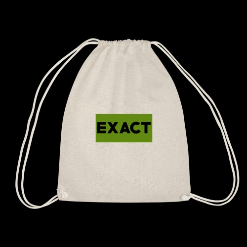 Exact Classic Green Logo - Drawstring Bag