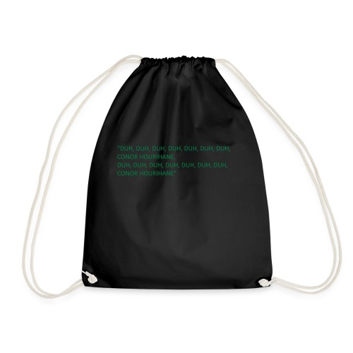 conor hourihane - Drawstring Bag