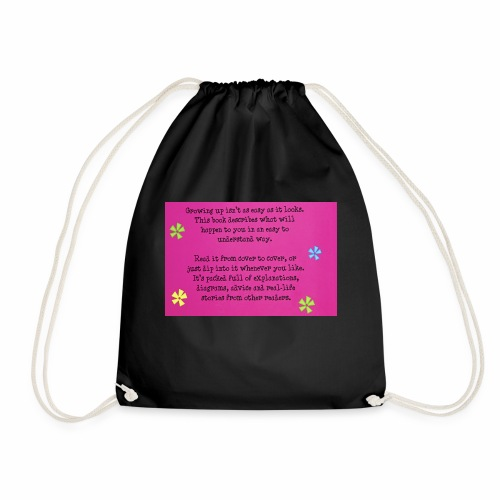 Phrase about growing up. - Drawstring Bag