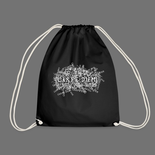 carpe diem (white) - Drawstring Bag