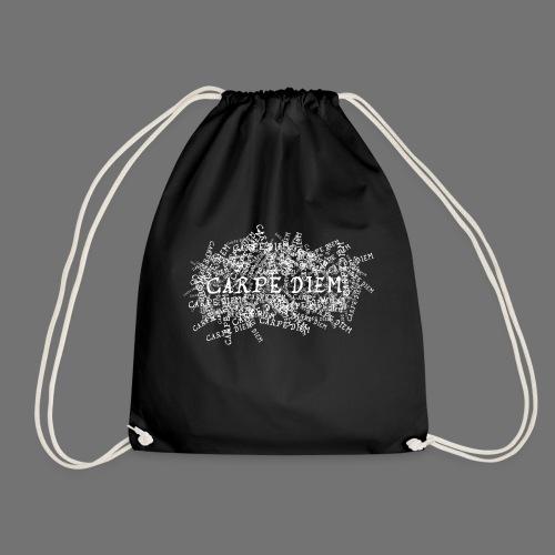 carpe diem (white) - Drawstring Bag