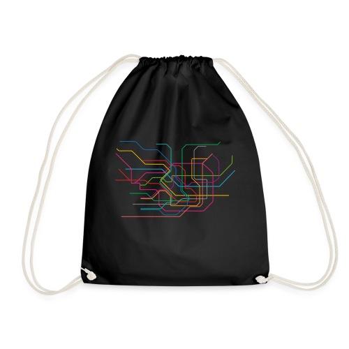 Tokyo Subway Map - Drawstring Bag