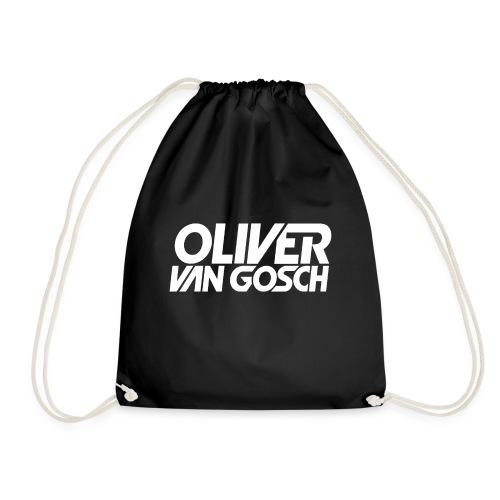 Oliver Van Gosch Logo White - Drawstring Bag