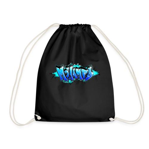 GRAFFITI MOHAMED BLUE PRINTABLE - Drawstring Bag