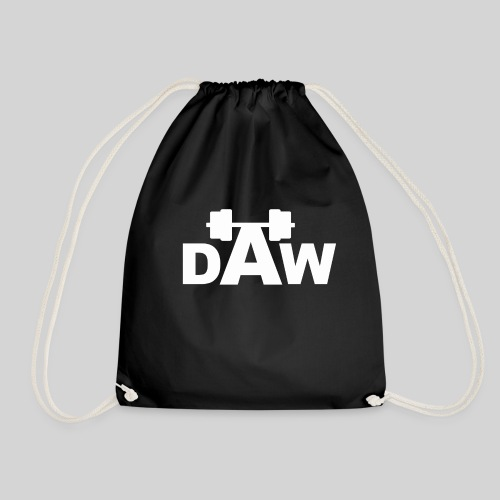 DAW white groot middle - Drawstring Bag