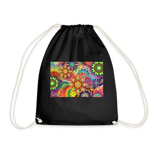 psychedelic bunte farben - Turnbeutel