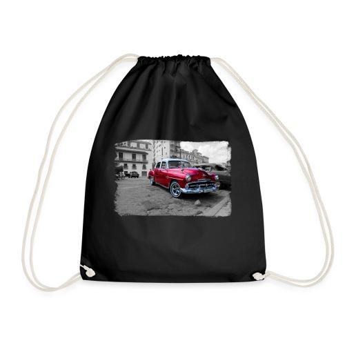 shiny red car - Drawstring Bag